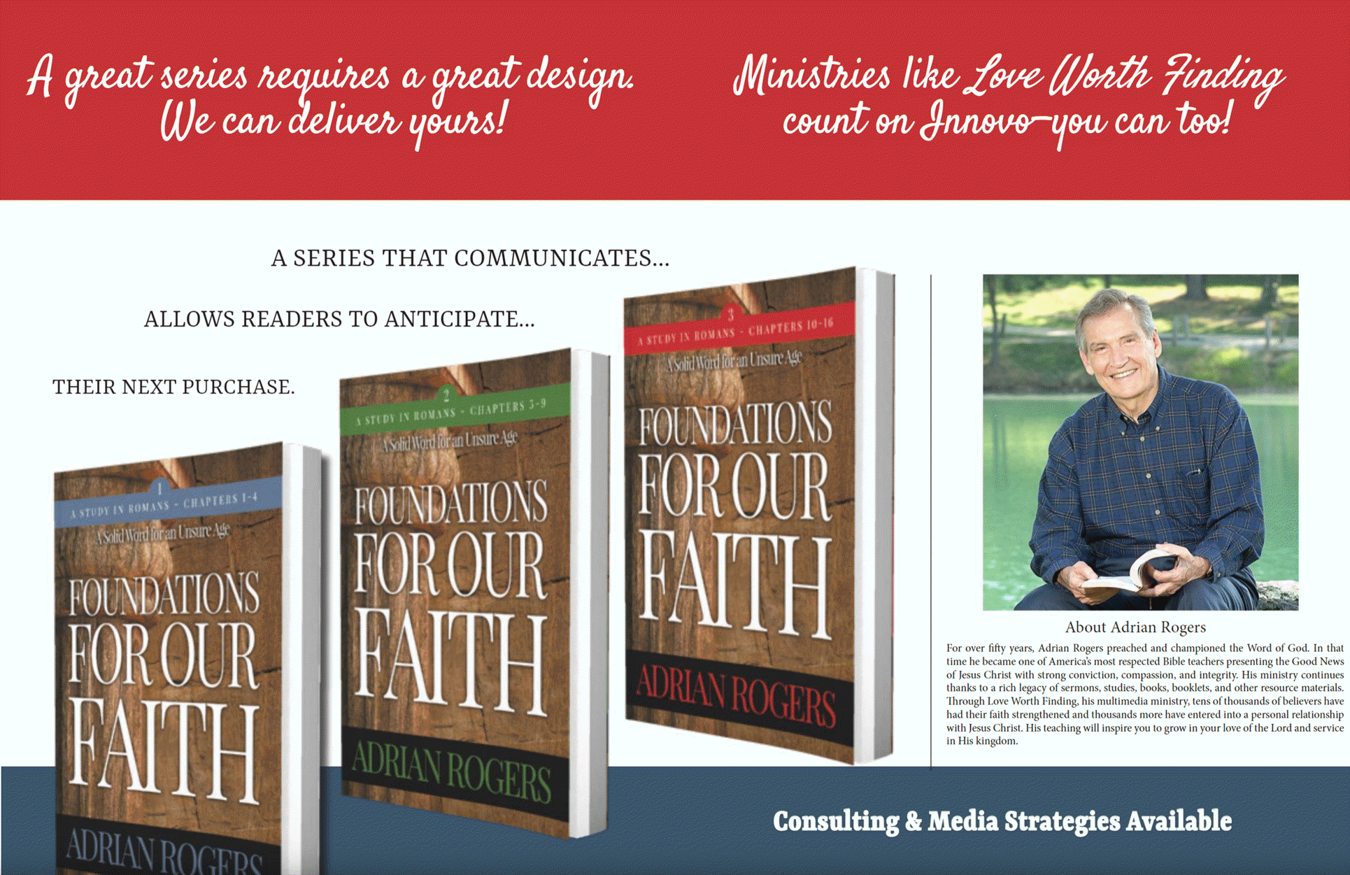 Innovo's Book Series Design and Publishing for Christian Authors, Artists, and Ministries