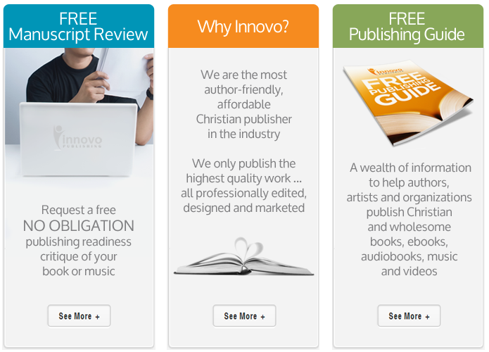 Innovo Publishing Partners with Christian Authors, Artists and Organizations to Publish and Market Professional Christian Books, eBooks, Audio Books, Music & Videos Around the World Using Traditional Publishing, Co-Publishing & Independent Publishing Options.